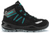Lowa Simon II GTX QC Shoes Junior schwarz/aquamarin